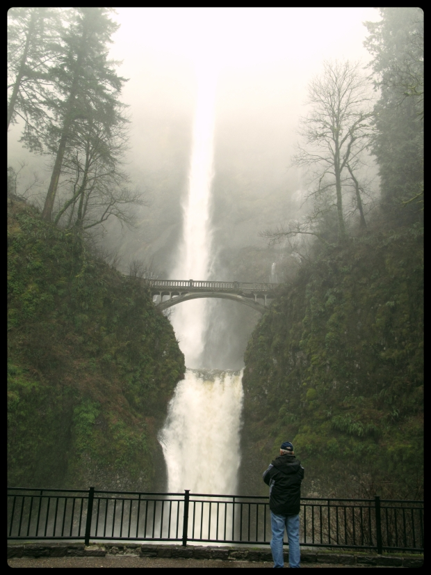 Papa Joe at Multnomah Falls