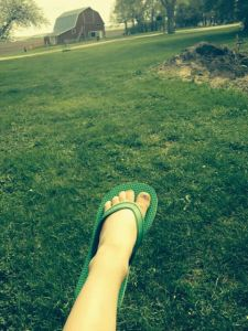 Eleanor's foot